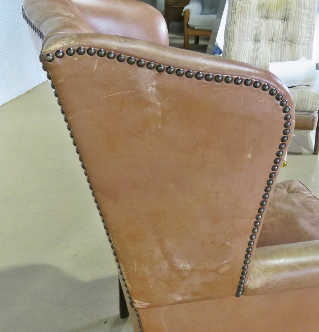 LEATHER CHESTERFIELD STYLE CHAIR - 4