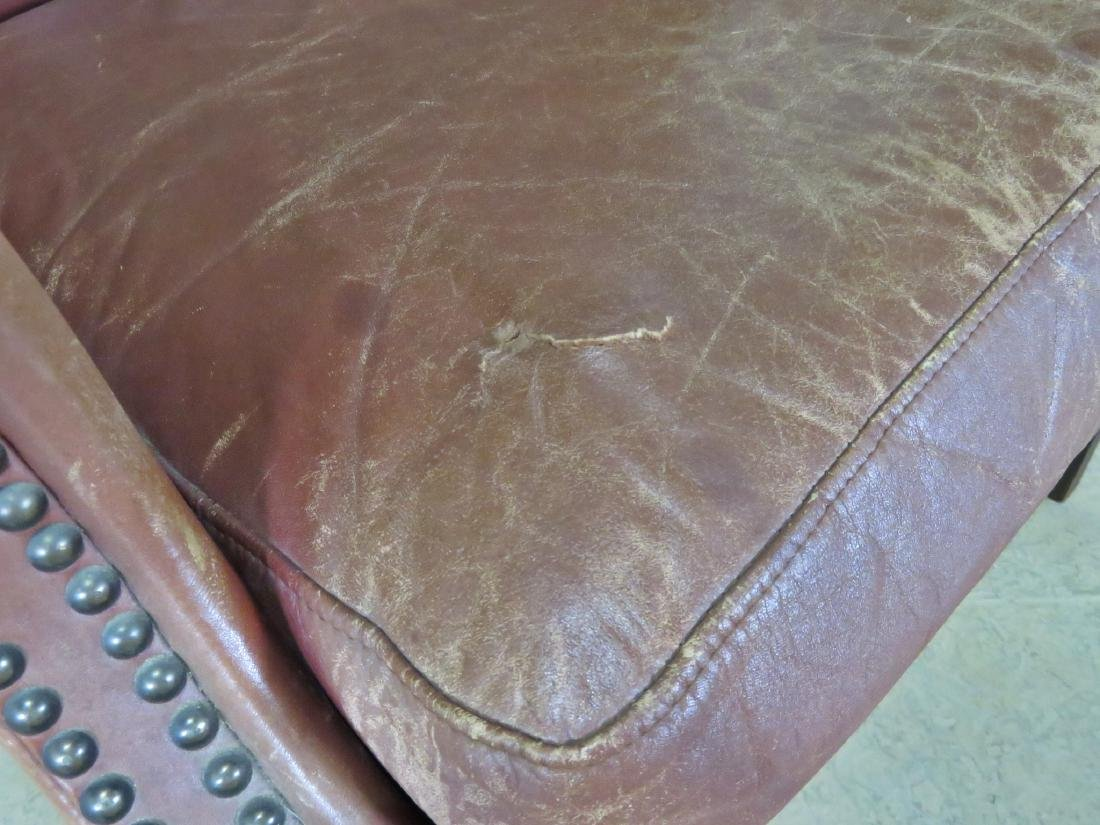 LEATHER CHESTERFIELD STYLE CHAIR - 7