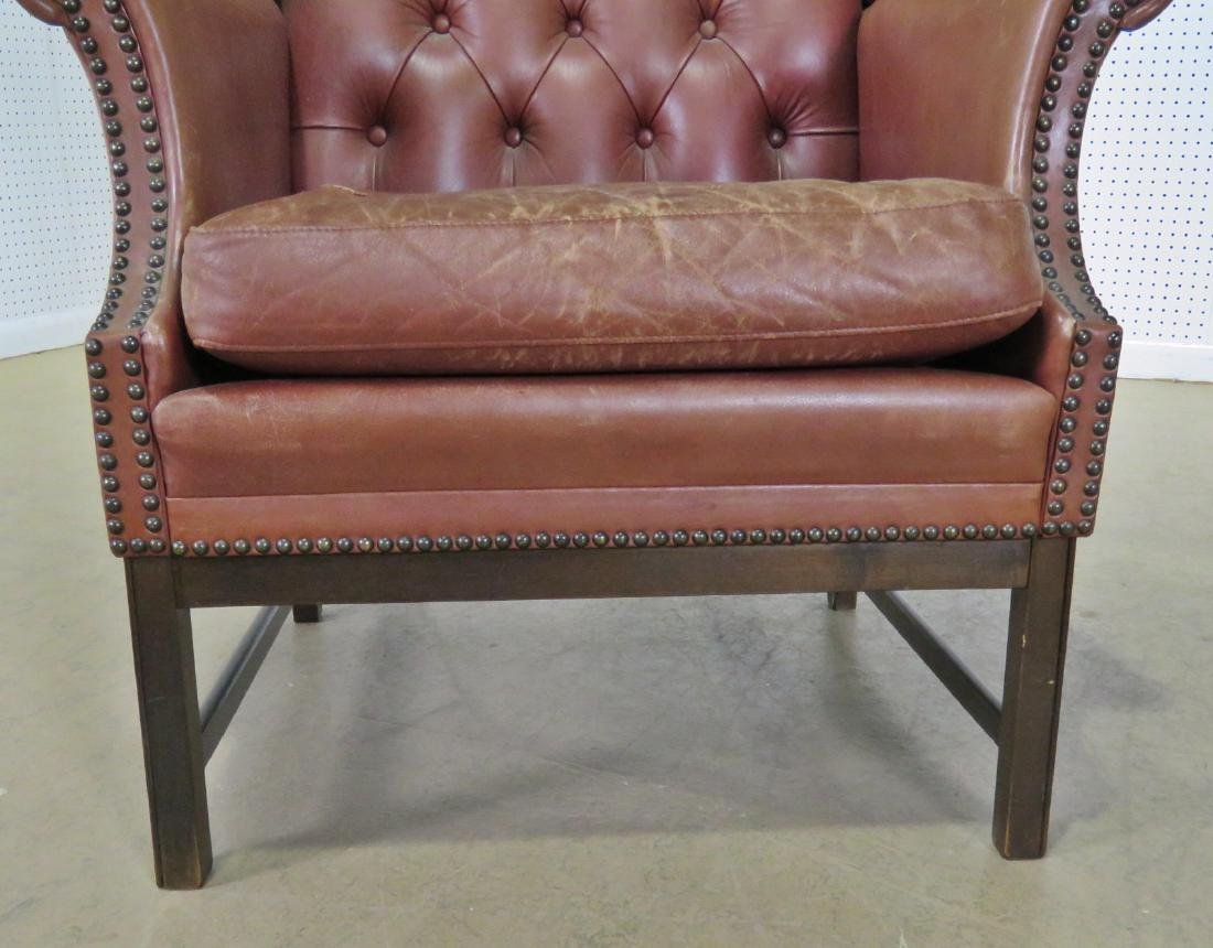 LEATHER CHESTERFIELD STYLE CHAIR - 8