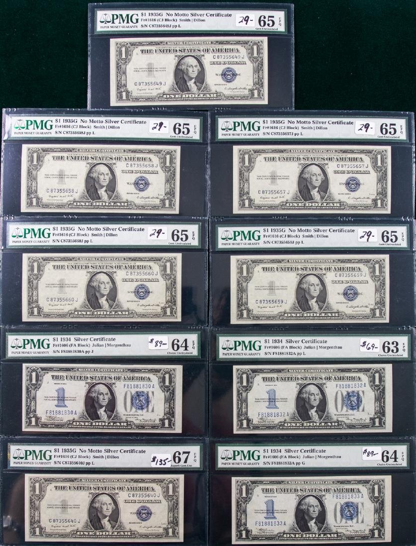 9 - 1934 - 1935 $1 ONE DOLLAR SILVER CERTIFICATES