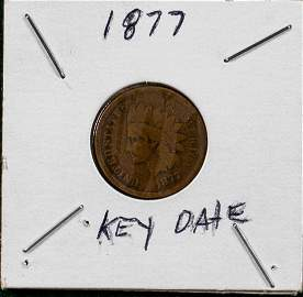 1877 INDIAN HEAD PENNY KEY DATE 1C