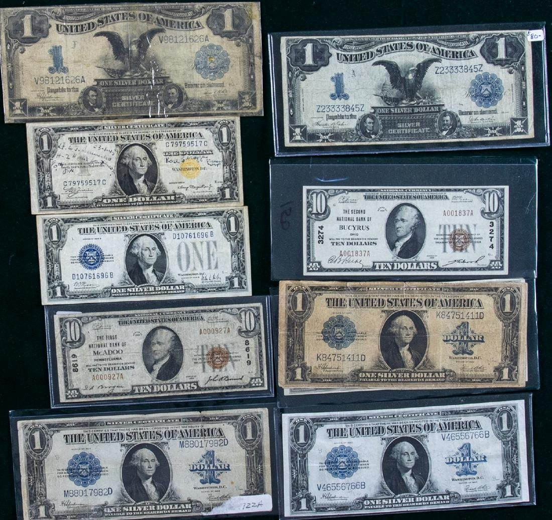 12 - 1899 - 1935 $1 & $10 SILVER CERTIFICATES &