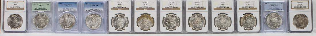 12 - 1878S - 1904 - O MORGAN DOLLAR COLLECTION