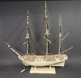 FRENCH PRISONER OF WAR BONE SHIP MODEL