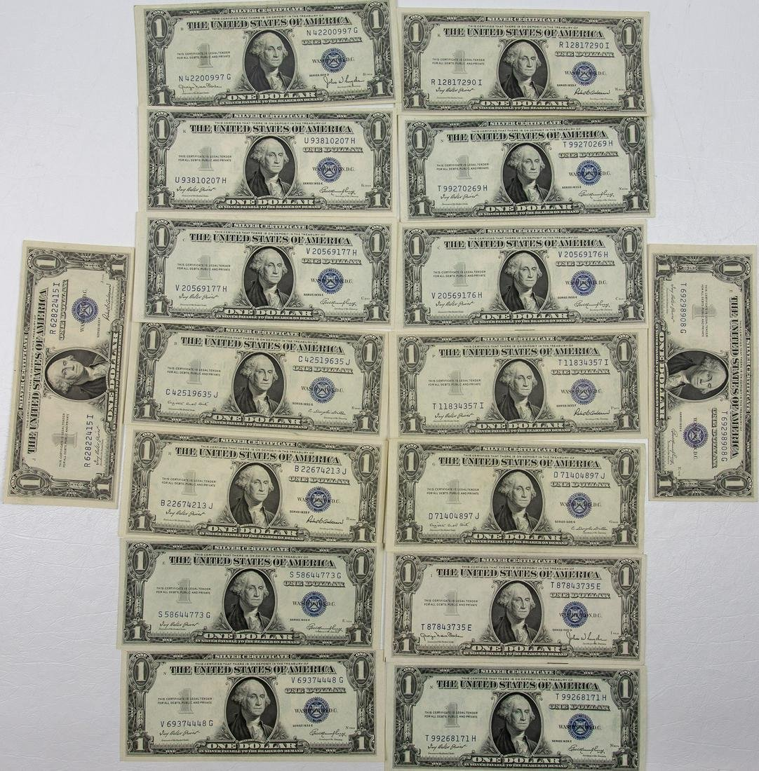 16  - 1935 -$1 ONE DOLLAR SILVER CERTIFICATES