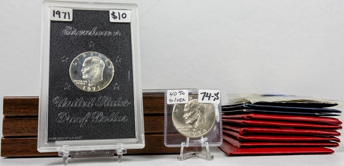 18 - SILVER EISENHOWER COINS