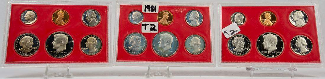 3 - 1981 TYPE 2 PROOF SETS