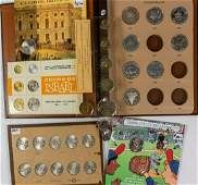 MIXED LOT CANADIAN COINS AND TOKENS AND OTHER PARTS OF