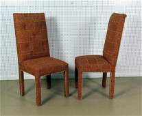 PAIR DOROTHY DRAPER STYLE DINING CHAIRS