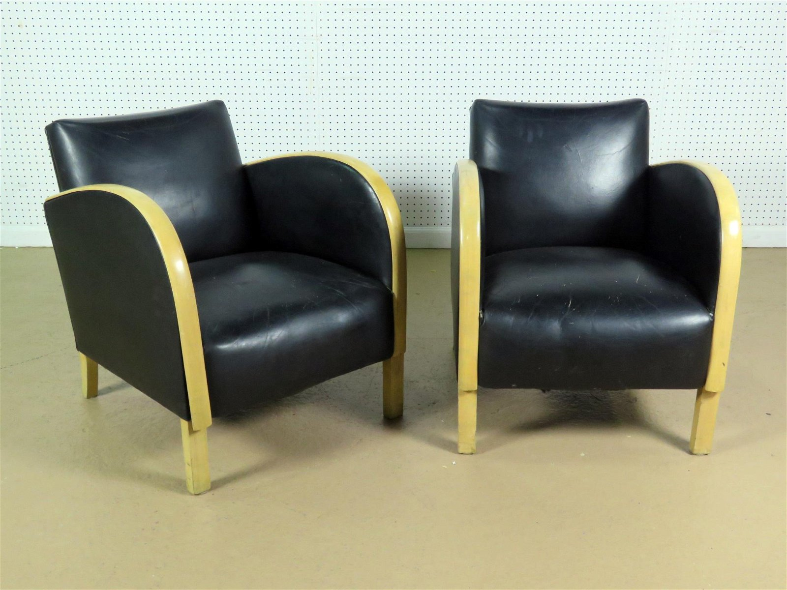 PAIR DECO STYLE CLUB CHAIRS