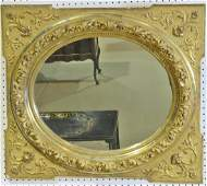 CARVED GILDED WOOD WALL MIRROR