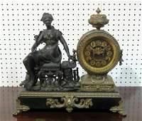 SIGNED ANSONIA MANTLE CLOCK