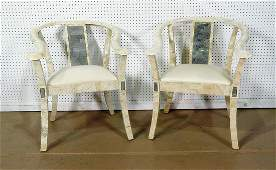 PAIR MAITLAND SMITH ASIAN MODERN STYLE CHAIRS