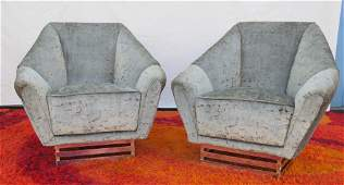 PAIR ROMEO REGA ITALIAN CLUB CHAIRS