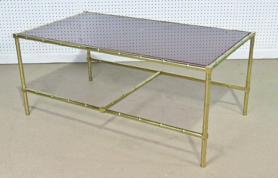 BAGUES STYLE FAUX BAMBOO COFFEE TABLE