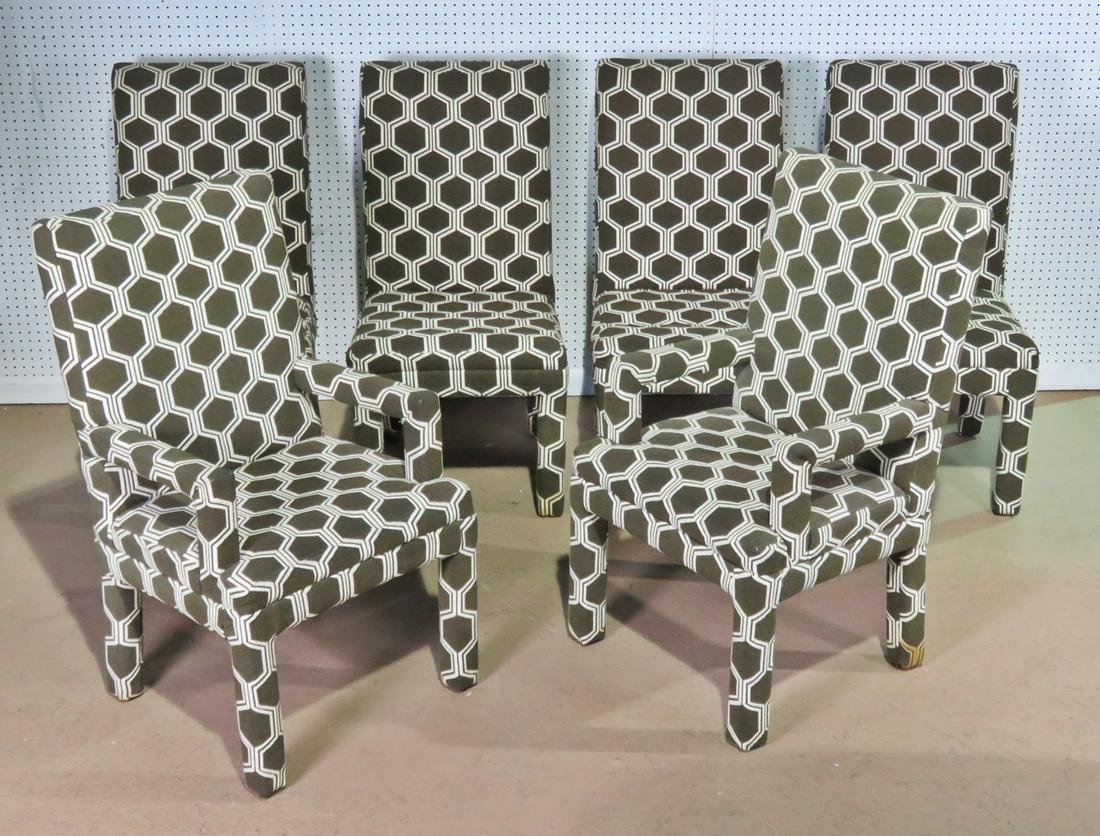 6 MILO BAUGHMAN STYLE PARSONS CHAIRS