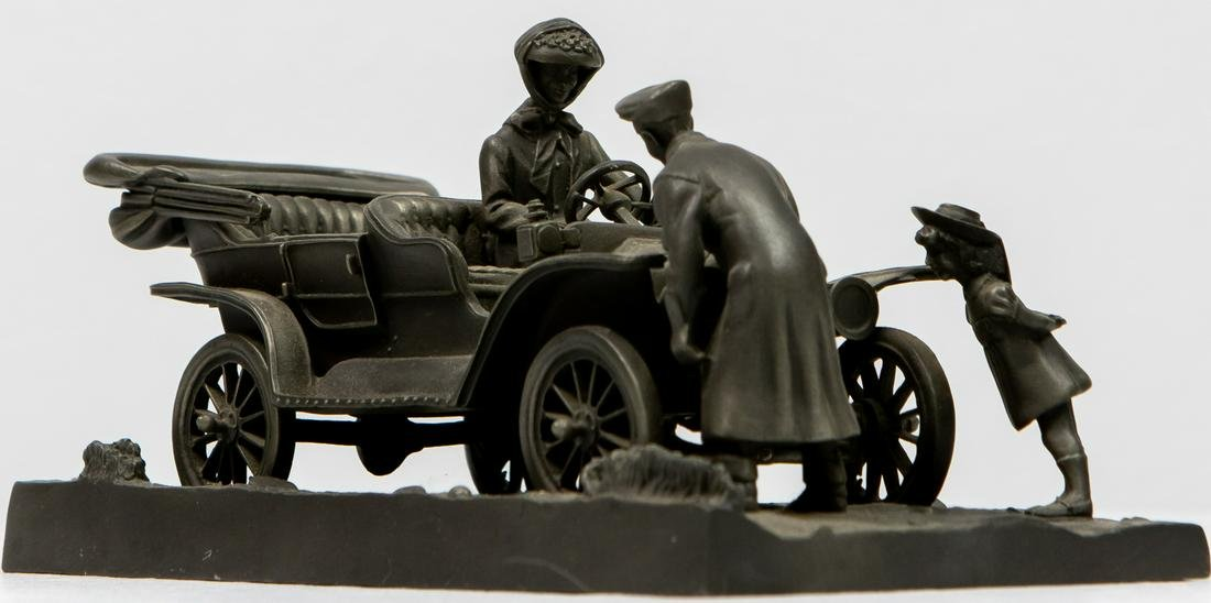 THE WONDERFUL OLD MODEL T IN PEWTER