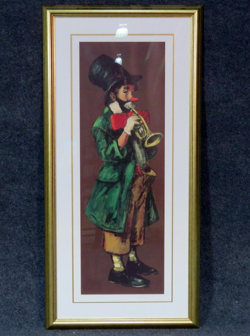 LEIGHTON-JONES SIGNED PRINT OF A CLOWN