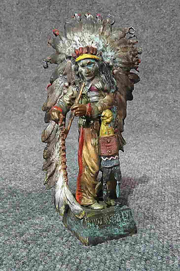 COLD PAINTED AUSTRIAN BRONZE SIGNED CARL KAUBA