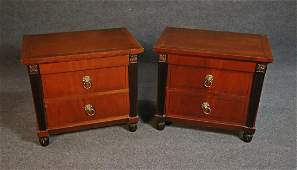 PAIR BAKER FRENCH EMPIRE END TABLES