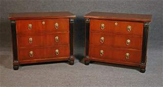 PAIR BAKER FRENCH EMPIRE STYLE COMMODES