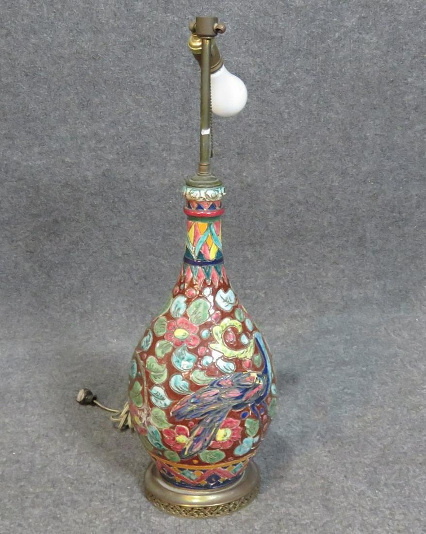 ASIAN VASE CONVERTED LAMP