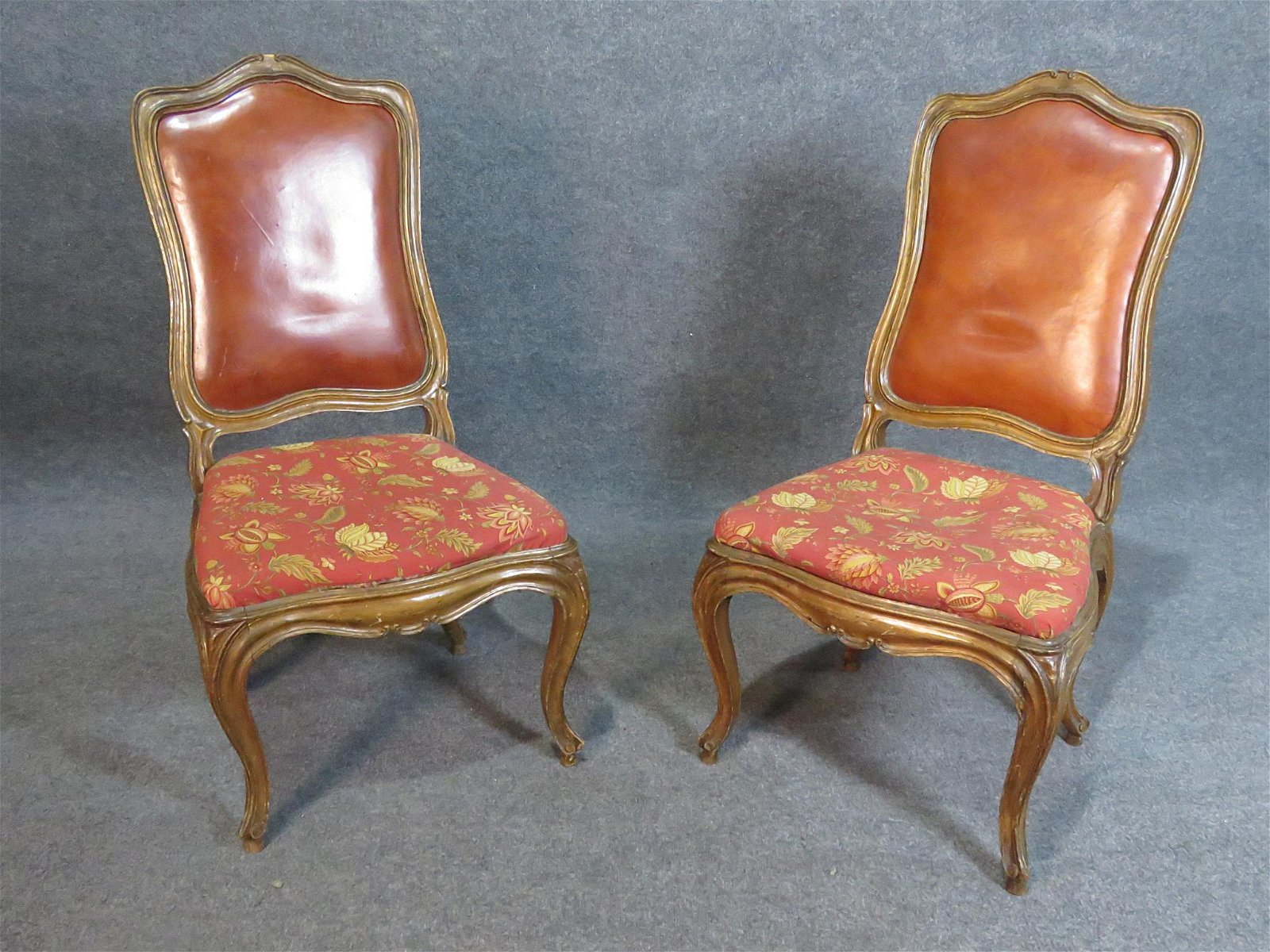 PAIR LOUIS XV STYLE SIDE CHAIRS