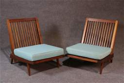 PAIR GEORGE NAKASHIMA CHAIRS