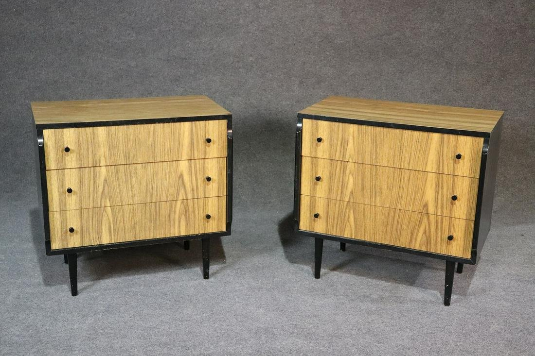 PAIR KENT COFFEY BACHELORS CHESTS MID CENTURY MODERN
