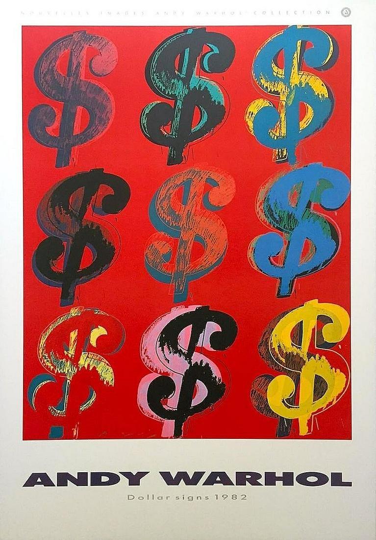 "ANDY WARHOL POP ART POSTER ""DOLLAR SIGNS"""