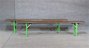 PAIR INDUSTRIAL STYLE FOLDING BENCHES