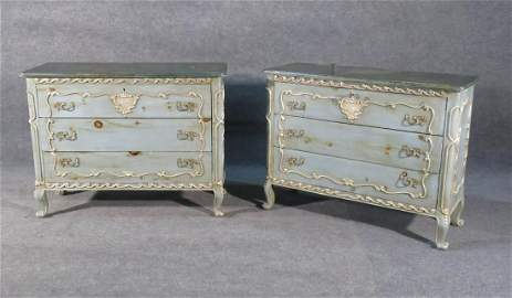 PAIR ANTIQUE FRENCH COMMODES