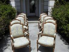 10 LOUIS XVI STYLE BY NANCY CORZINE DINING CHAIRS