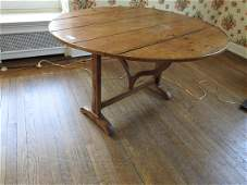 ANTIQUE FRENCH COUNTRY TILT TOP BREAKFAST TABLE