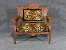 CARVED VICTORIAN BENCH