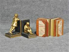 TWO PAIRS OF BOOKENDS