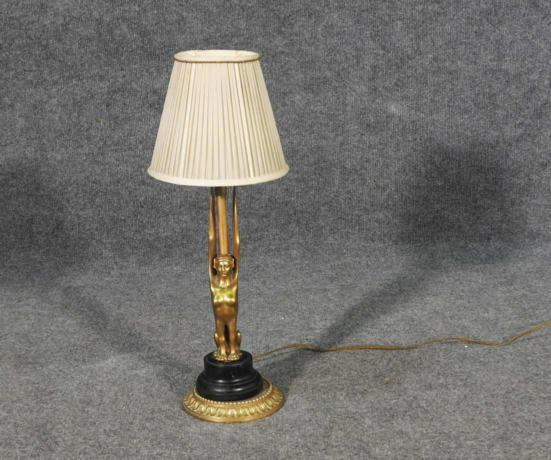 FIGURAL BRASS LAMP