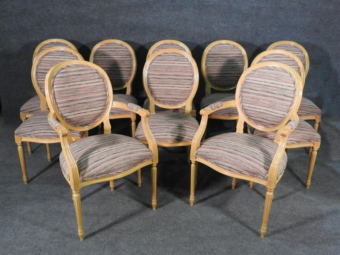10 LOUIS XVI STYLE DINING CHAIRS