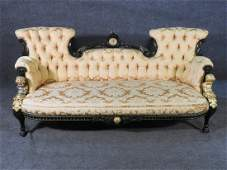 EBONIZED VICTORIAN SOFA BY POTTIER  STYMUS