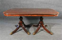 SCHEMIG & KOTZIAN BANDED DINING TABLE