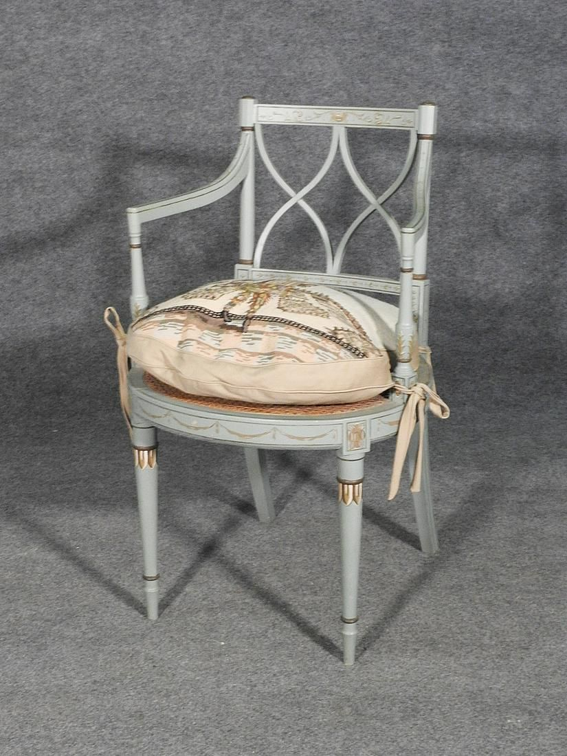 ADAMS STYLE OPEN ARM CHAIR