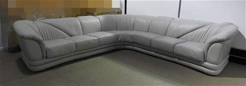 3 PIECE LEATHER SECTIONAL SOFA