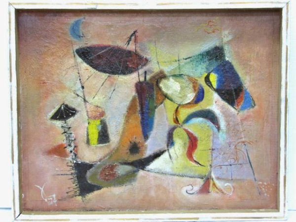 "8: OTTO SAMMER ABSTRACT PAINTING ""NETZE"""