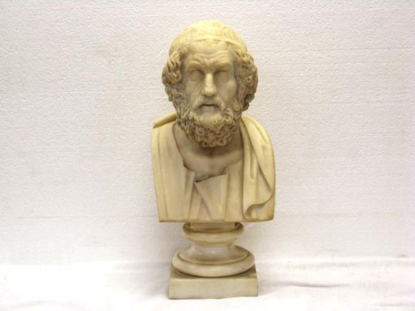 "16: 18"" MARBLE BUST of PLATO"