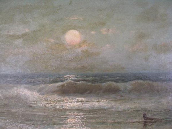31A: FRANK EASTMAN JONES SEASCAPE PAINTING - 2