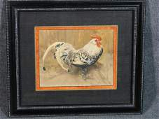 "JOSEPH CRAWHALL WATERCOLOR "" THE SPANGLED COCK"""
