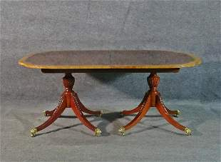 BAKER BANDED TOP DINING TABLE