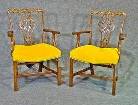 PAIR BAKER ARM CHAIRS