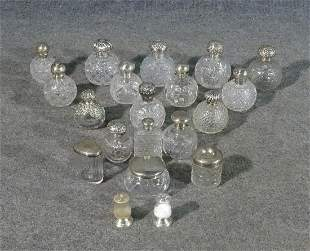 MISCELLANEOUS GROUP STERLING SILVER TOP & CUT CRYSTAL