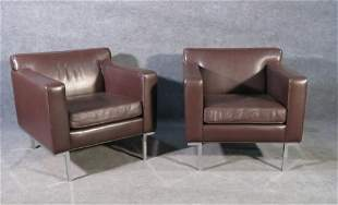 PR DESIGN WITHIN REACH LEATHER CLUB CHAIRS